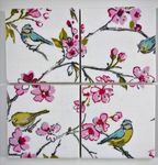 4 Ceramic Coasters in Clarke and Clarke Birdies